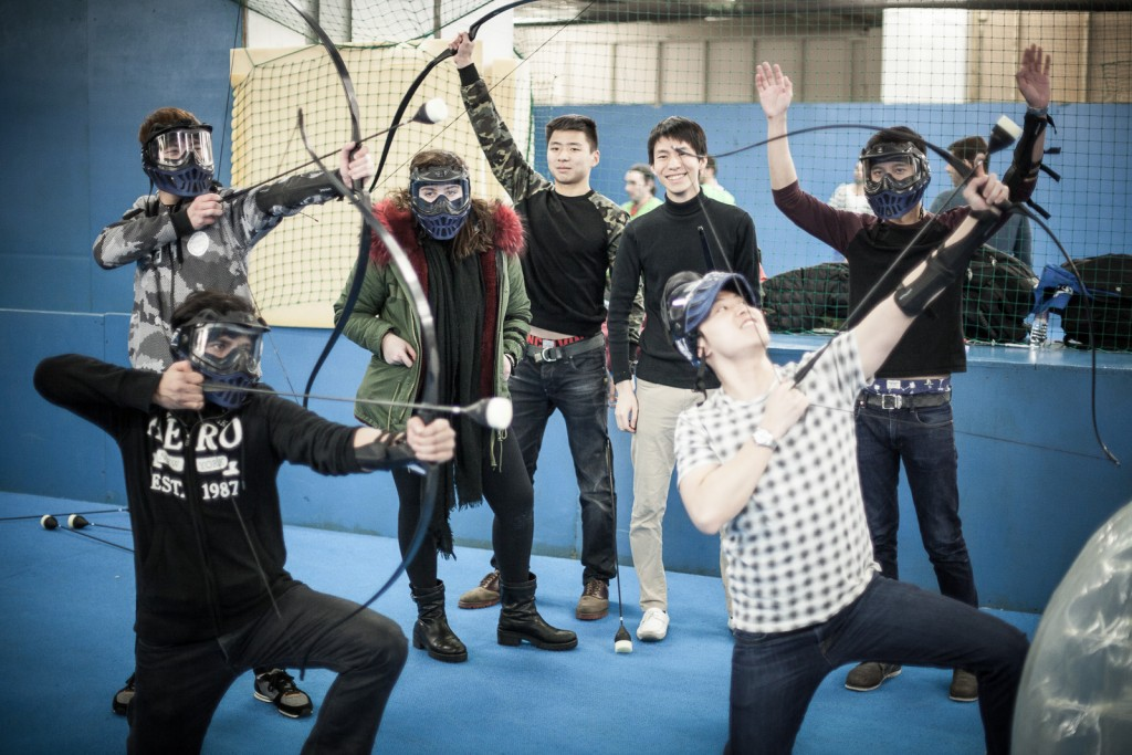 Stag, hen and group bubble football and Battle Bows Combat Archery package